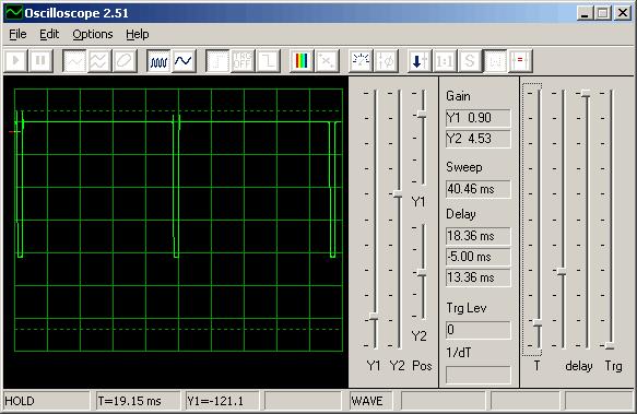 Осциллограф из звуковой платы